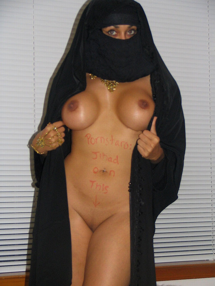 Arab Chick With AK-47 Stripping Out Of Her Burka And Showing Her Boobs www.GutterUncensored.com 015